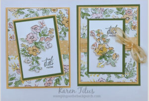 Tri Fold Cards with Hand Penned Designer Series Paper