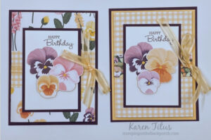 Tri Fold Cards with Pansy Petals Designer Series Paper