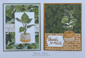 Tri Fold Cards with Bloom Where You're Planted Designer Series Paper