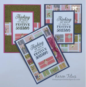 Tri Fold Cards with Whimsy & Wonder Designer Series Paper
