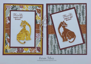 Tri Fold Cards with In the Wild Designer Series Paper