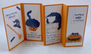 fun fold card with cats