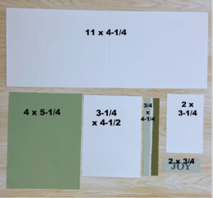 12 Weeks of Christmas Cards Wonder & Whimsy with measurements