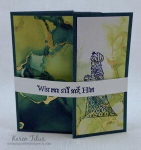 fun fold card with the Great Tidings Bundle