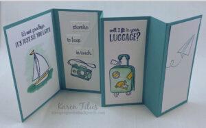 fun fold card with the Sweet Farewell stamp set