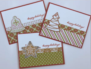 Frosted Gingerbread cards