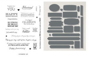 many messages stampin up