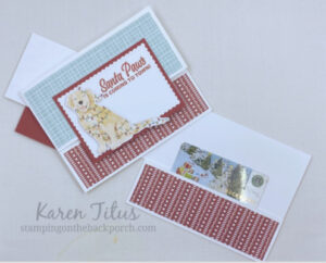 puppy card for Christmas