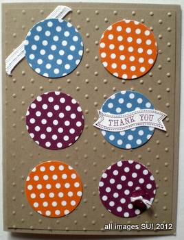 stampin up punch card