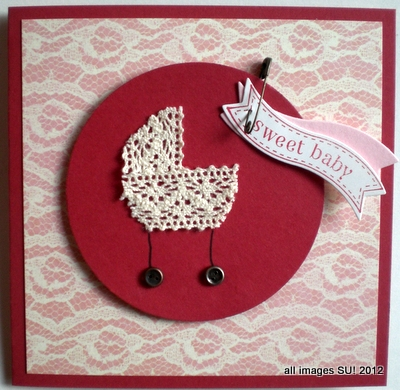 Stampin Up Vintage Baby Card Idea