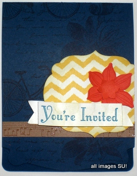 Stampin' Up! Invitation Card