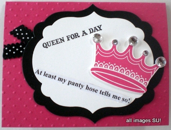 Queen for a Day Funny Handmade Card