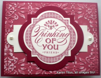 thinking of you hand stamped card