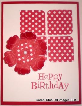 Mixed Blossom Handmade Card