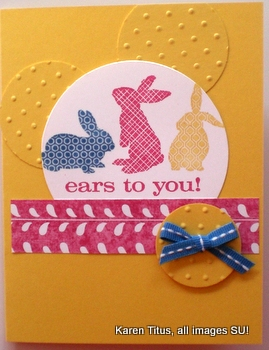 Ears to You stamped card