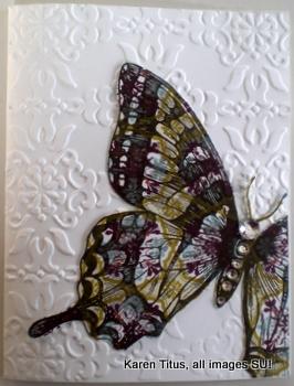 Swallowtail Butterfly Handmade Card