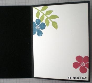 Secret Garden handmade card inside