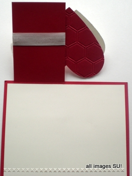 handmade Valentine card inside
