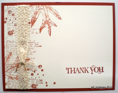 stampin up autumn card