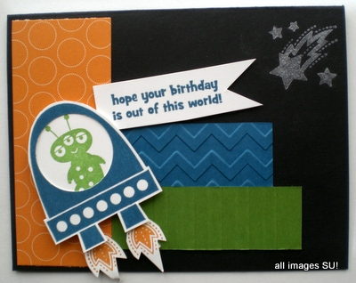 Blast Off Kids Handmade Card