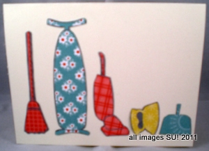 stampinup card idea for retro look