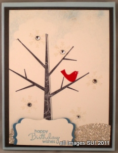 stampin up card idea for winter