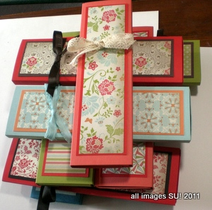 Stampin up hand made boxes