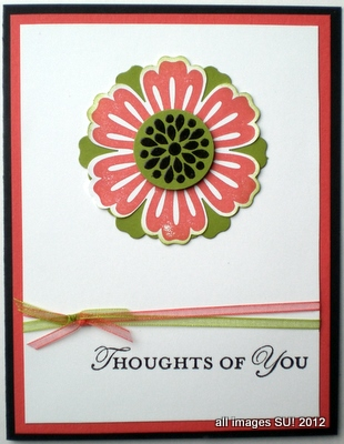 stampin up card idea with Mixed Bunch