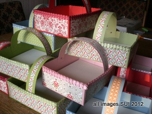 how to make stampin up boxes