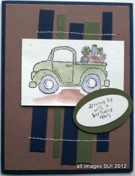 stampin up card ideas for a man with a truck