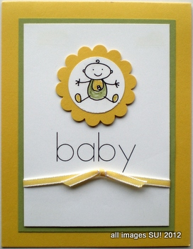 stampin up baby card idea