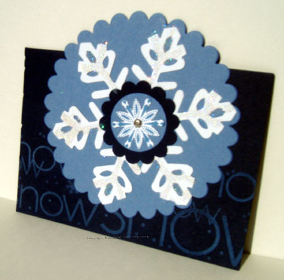 snow swirled stamp set