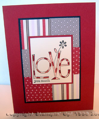 stampin' up! love you much stamp set