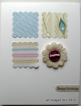 stampin up scrap card